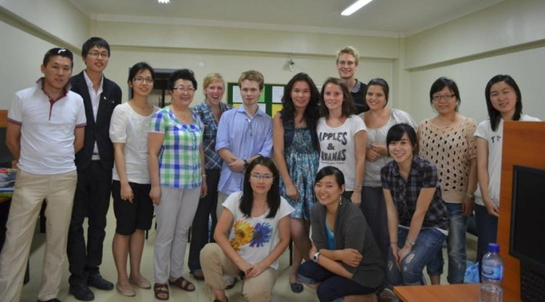 Projects Abroad Care and Psychology interns pose with staff members of a Health Care Centre during their Psychology placements in Mongolia.